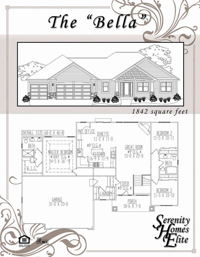 The 08) Bella - Designed and Customizable by Serenity Homes Elite