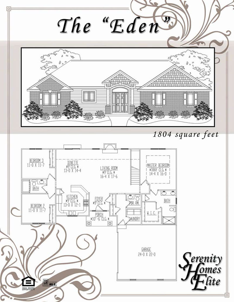 The 06) Eden - Designed and Customizable by Serenity Homes Elite
