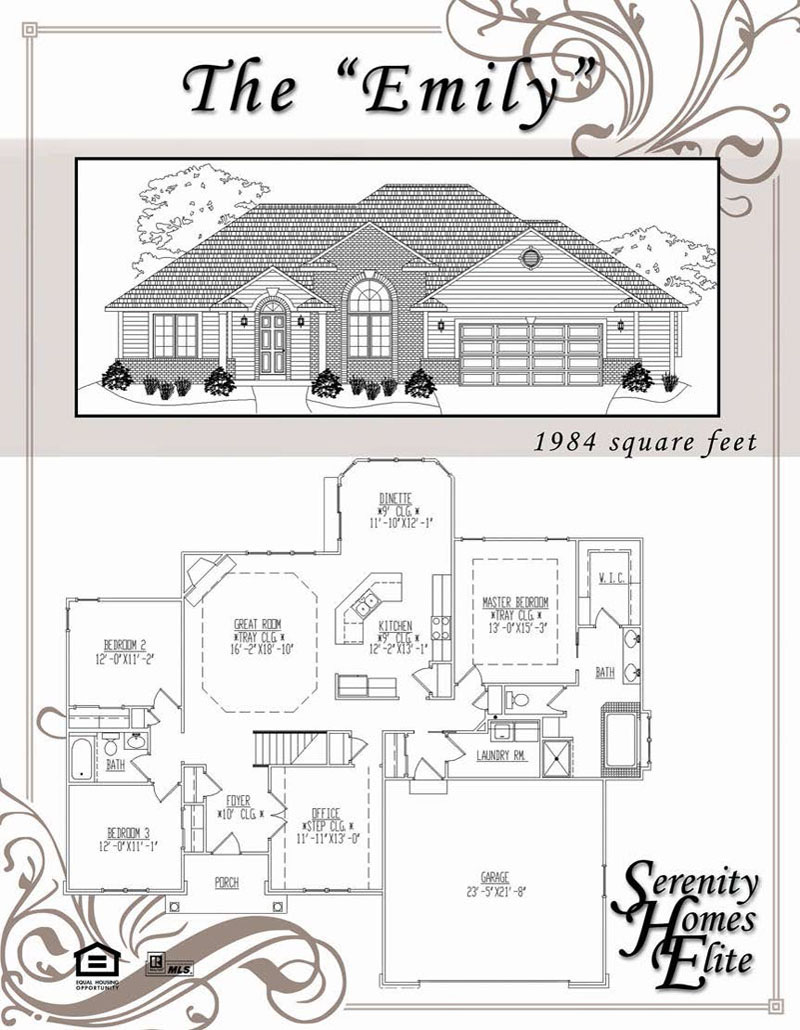 The 10) Emily - Designed and Customizable by Serenity Homes Elite