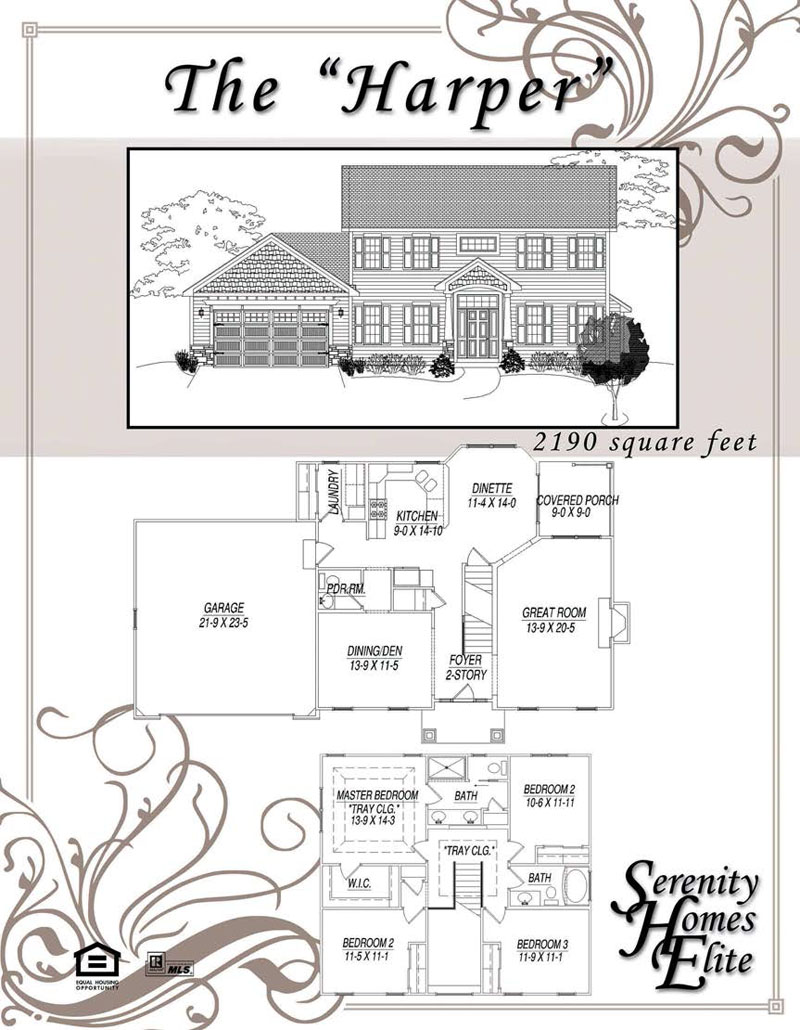 The 02) Harper - Designed and Customizable by Serenity Homes Elite