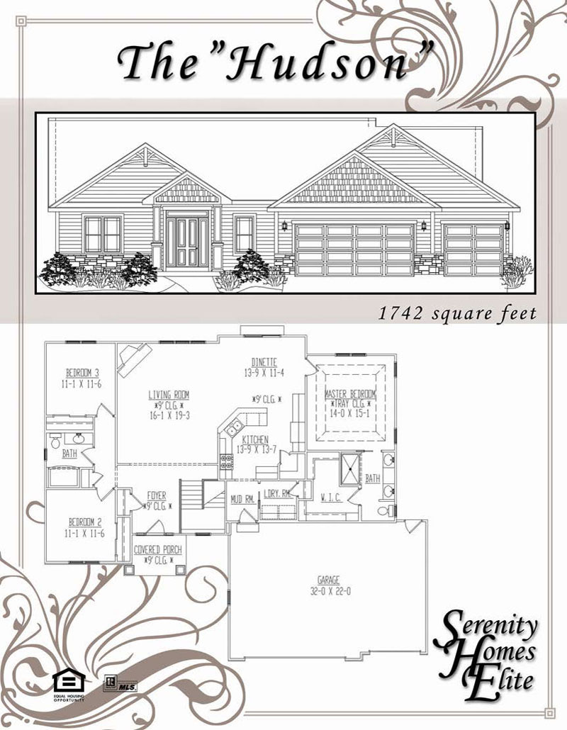 The 04) Hudson - Designed and Customizable by Serenity Homes Elite