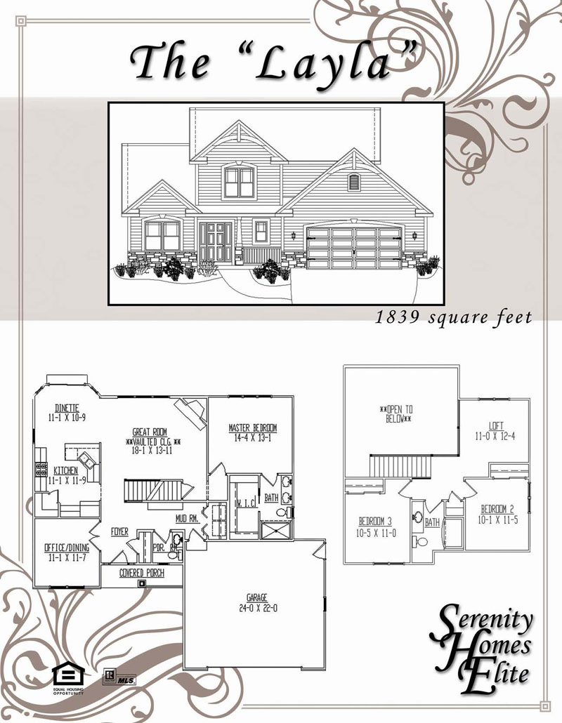The Layla - Designed and Customizable by Serenity Homes Elite