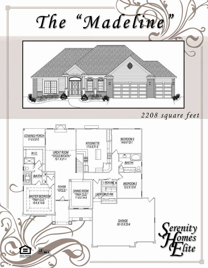 The 12) Madeline - Designed and Customizable by Serenity Homes Elite