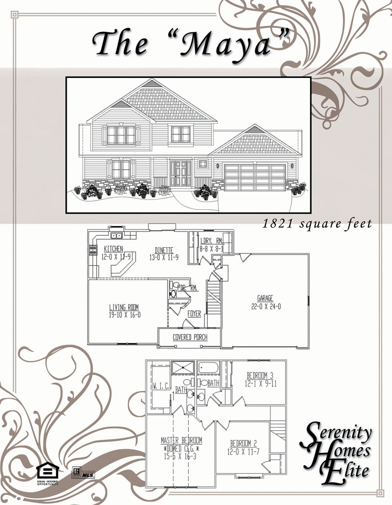 The 01) Maya - Designed and Customizable by Serenity Homes Elite