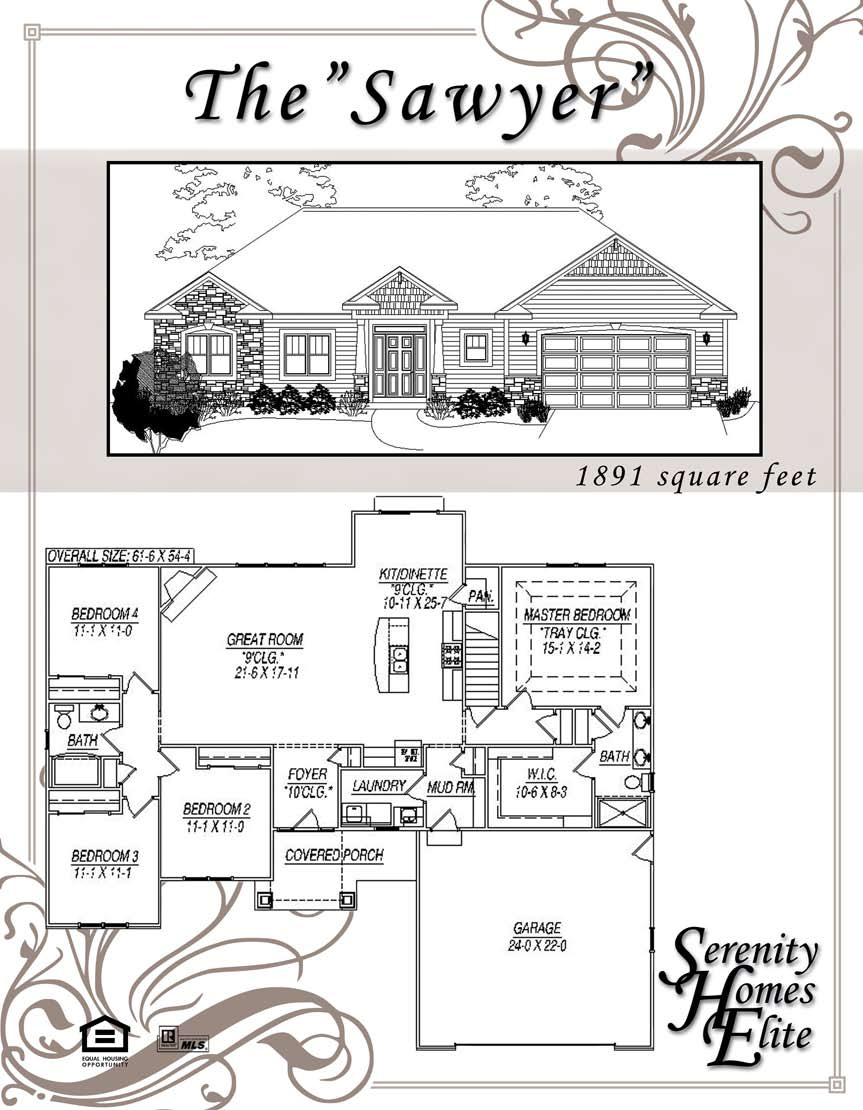The 09) Sawyer - Designed and Customizable by Serenity Homes Elite