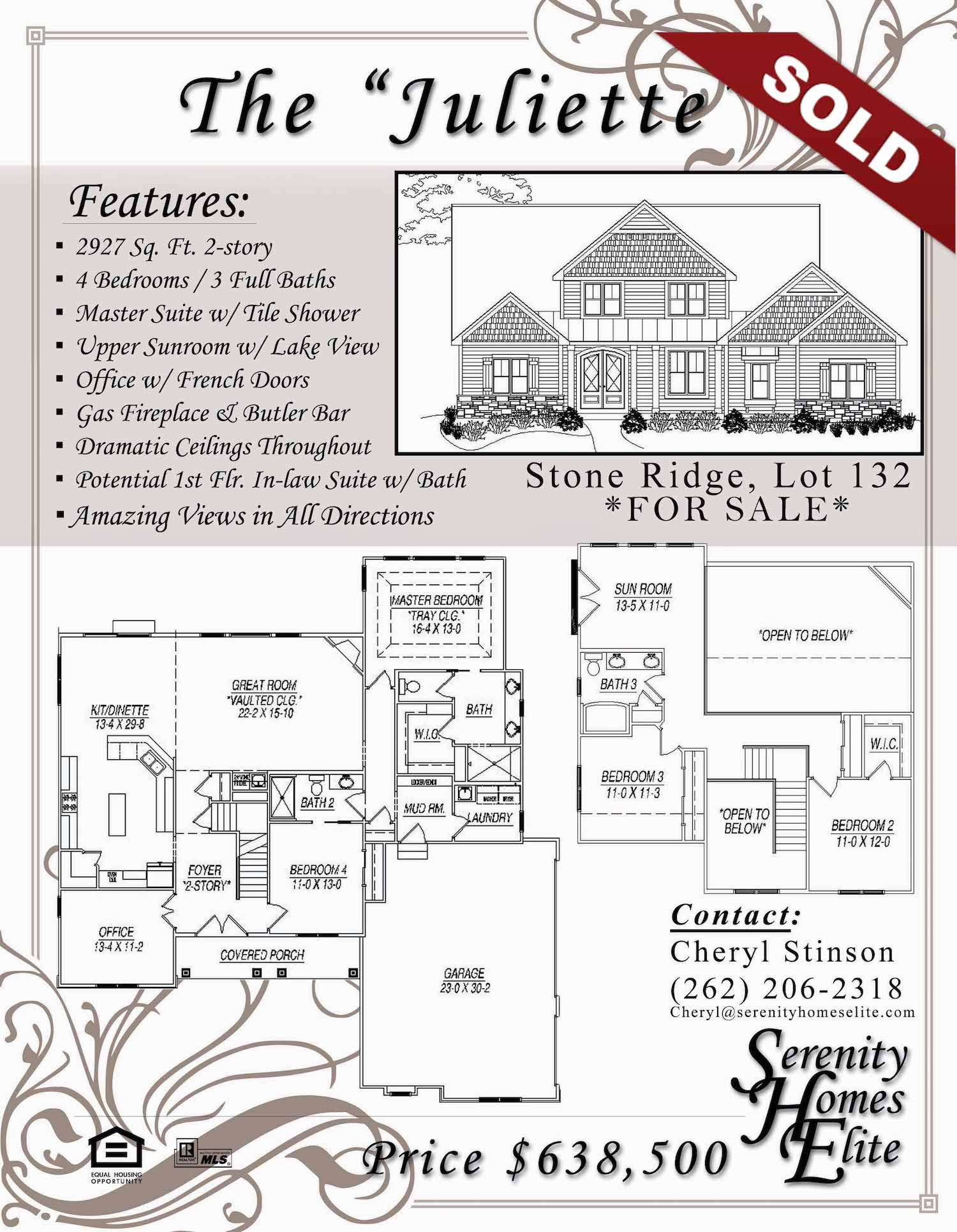 The Juliette - For Sale by Serenity Homes Elite