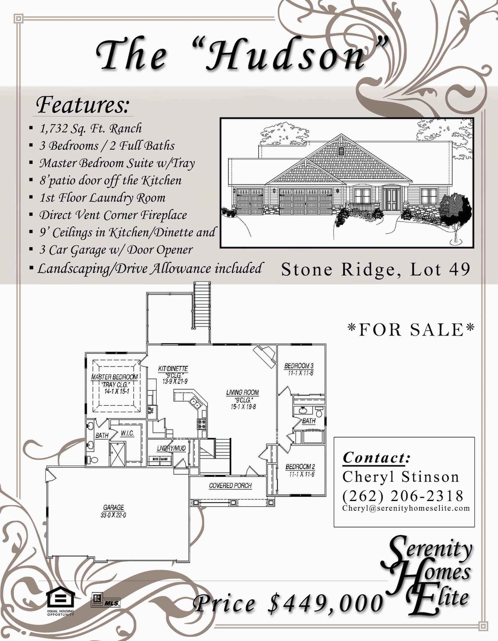 The 02) Hudson - For Sale by Serenity Homes Elite
